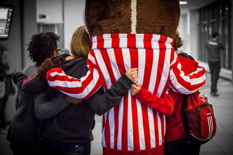 hugging Bucky